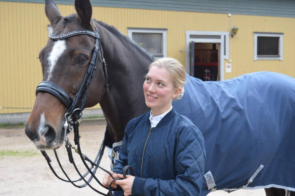 "ELITEN. Kristina Levin med sin häst ""Piffen"" Apertif. Foto: Jonas Carlsson"